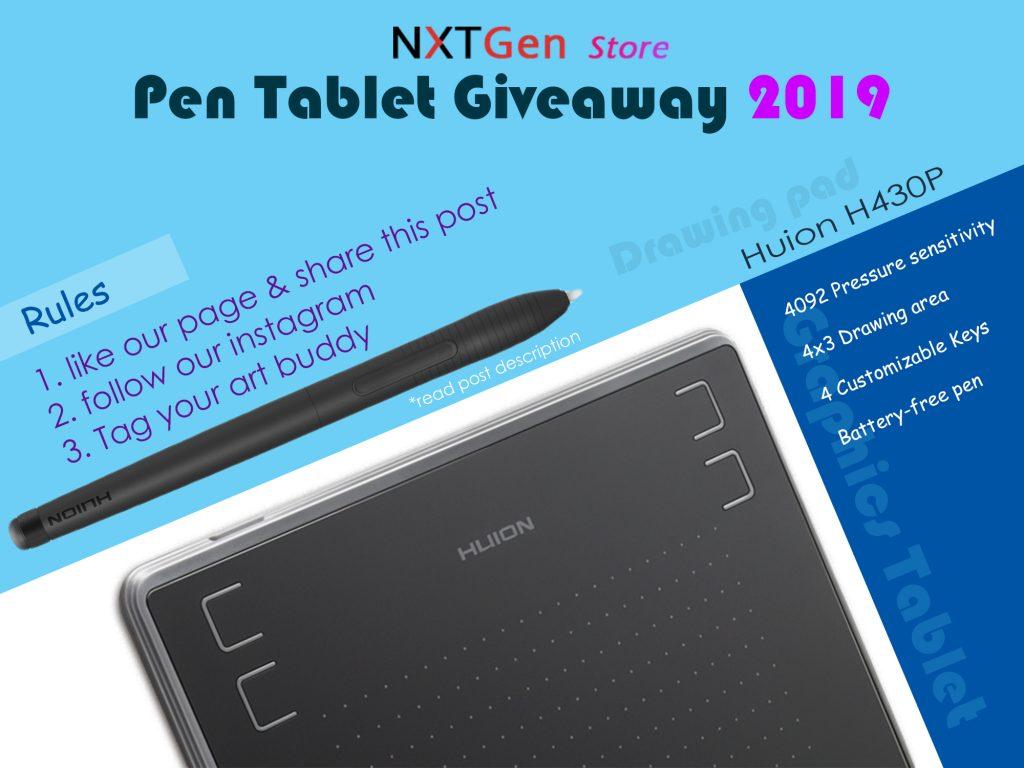 Pen Tablet Giveaway 2019 - 1 - NXTGen Store